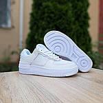 Женские кроссовки Nike Air Force 1 Shadow (белые) 20186, фото 6