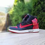 Мужские кроссовки OFF-WHITE Nike Air Jordan 1 High '85 (красно-черные) 10230, фото 2