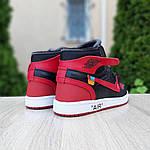 Мужские кроссовки OFF-WHITE Nike Air Jordan 1 High '85 (красно-черные) 10230, фото 4