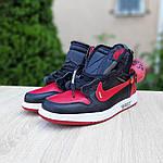 Мужские кроссовки OFF-WHITE Nike Air Jordan 1 High '85 (красно-черные) 10230, фото 5