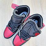 Мужские кроссовки OFF-WHITE Nike Air Jordan 1 High '85 (красно-черные) 10230, фото 7