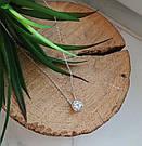 Серебряное колье с подвеской и цирконом Кэмерон, фото 5