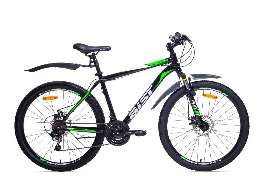 "Велосипед AIST QUEST DISC 17,5"" 26"" МТБ Чорно-Зелений"