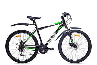 """Велосипед AIST QUEST DISC 17,5"""" 26"""" МТБ Черно-Зеленый"""