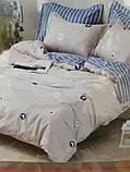 Комплект постельного белья из натурального , хлопка,  ( сатин)  220 х 200, фото 5