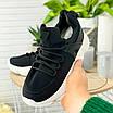 Стильні жіночі кросівки чорні, фото 2
