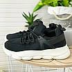 Стильні жіночі кросівки чорні, фото 3
