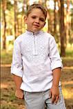 Вышиванка льняная для мальчика, фото 2