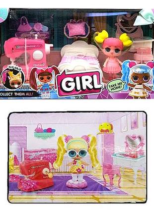 Игровой набор куколка с мебелью