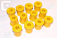 Втулка рессоры УАЗ полиуретан желтый (компл.12шт) (Украина)