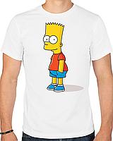 Футболка с печатью Барт Симпсон