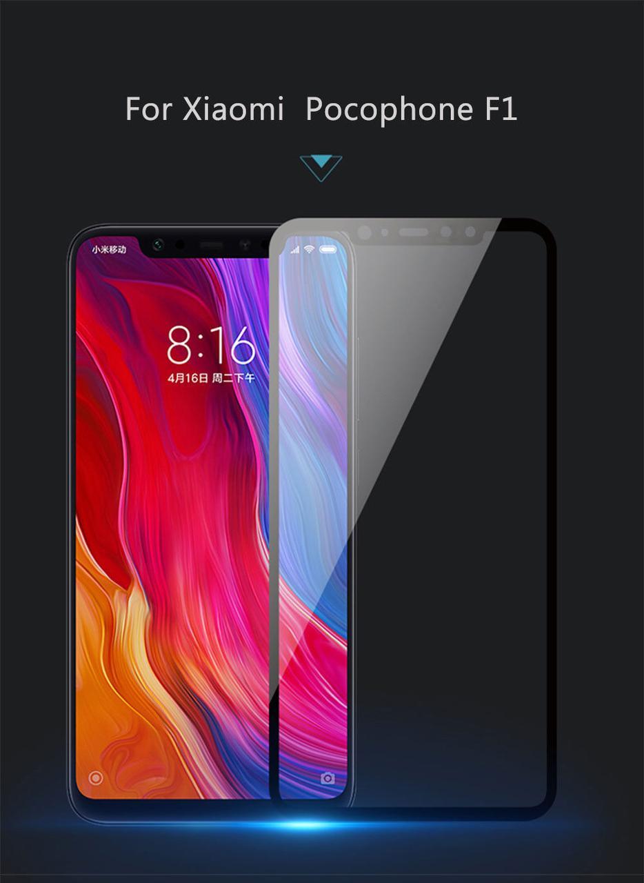Защитное цветное стекло Mocolo (full glue) на весь экран для Xiaomi Pocophone F1