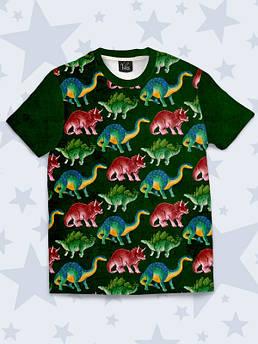 Дитяча футболка Різнокольорові Динозаври