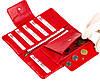 Жіночий гаманець клатч Butun 638-004-006 шкіряний червоний, фото 6