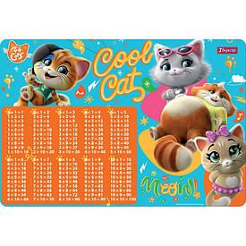 Подложка для стола 1Вересня детская ''44 Cats'' (табл.умножения)