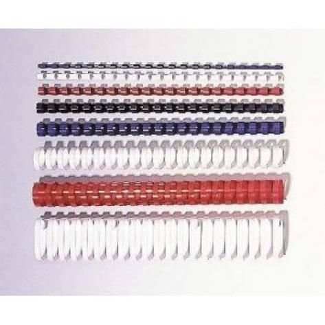 Пластиковые пружины круглые d 16мм белые толщ 101-120 л А4, фото 2