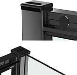 Душевая кабина Dusel EF185B/EF181 Black Matt, 120х90х190, дверь раздвижная, профиль черный, стекло прозрачное, фото 7