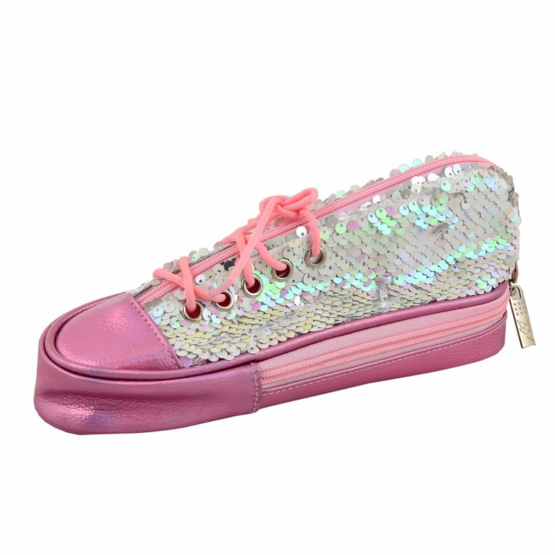 Пенал мягкий YES TP-24  ''Sneakers with sequins'' pink