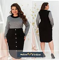 Женское деловое платье большого размера, коллекция Осень 2020 52,54,56,58,60