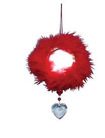 Сувенир-подвеска ''Зеркало'' 14 см, красное