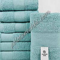 Махровое банное полотенце Однотонное (мятный)