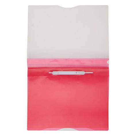 Скоросшиватель Axent А4 розовый 5 отделений 1312-10-A, фото 2