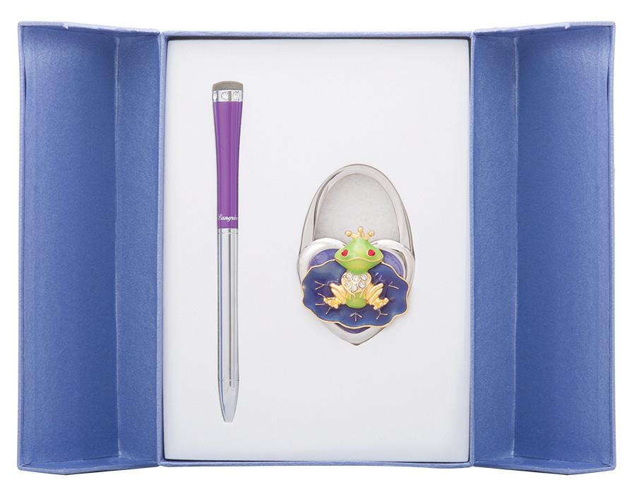 Набор подарочный Fairy Tale: ручка шариковая + крючек д сумки фиолетовый