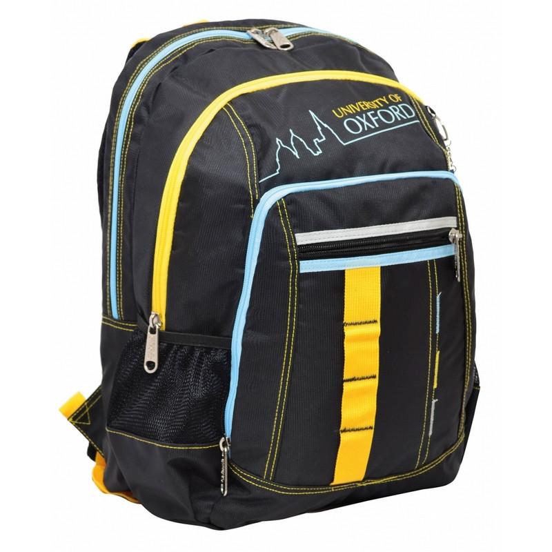 Рюкзак подростковый YES  ''Oxford'' ХО76 черный, 42x32x18см