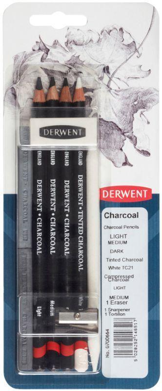 Набір угольных материалов Charcoal, 9 предметов, в блистере, Derwent