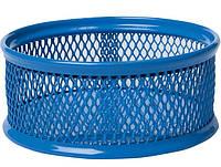 Подставка для скрепок Buromax 80x80x40мм металлическая синяя (BM.6221-02)