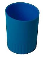 Стакан-подставка для ручек Buromax JOBMAX пластиковый синий (BM.6351-02)