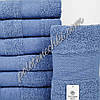 Махровое лицевое полотенце Однотонное (синий)