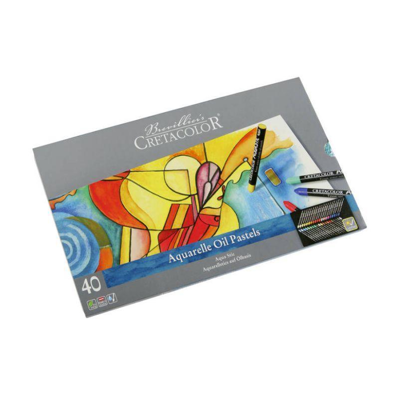 Набор водорастворимой пастели AQUA STIC, 40шт., в мет. пенале,  Cretacolor