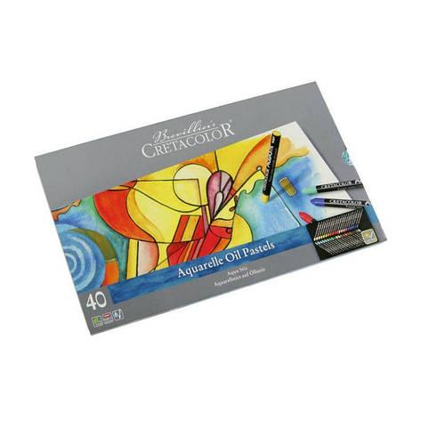 Набор водорастворимой пастели AQUA STIC, 40шт., в мет. пенале,  Cretacolor, фото 2