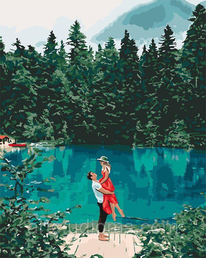 Картина по номерам Свидание у озера 40 х 50 см (с коробкой)