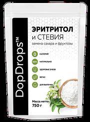Сахарозаменитель DopDrops™ Эритритол и Стевия (1:3) дой-пак (750 грамм)
