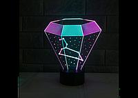 """3D светильник """"Алмаз"""" (1092)"""