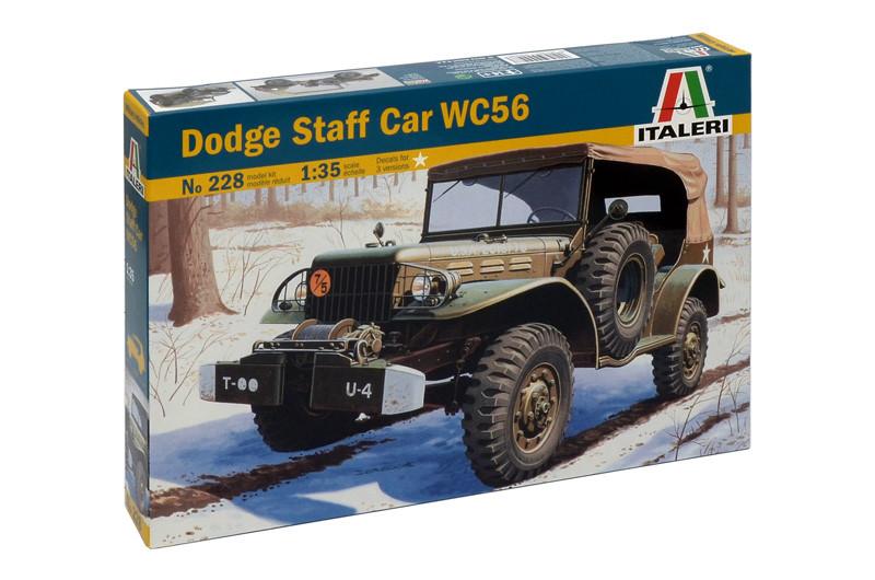Dodge Staff Car WC56. Сборная модель военного автомобиля в масштабе 1/35. ITALERI 228