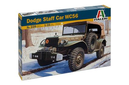 Dodge Staff Car WC56. Сборная модель военного автомобиля в масштабе 1/35. ITALERI 228, фото 2