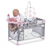 """Манеж-игровой центр для куклы с аксессуарами DeCuevas """"Скай"""" 59 см (53124), фото 1"""