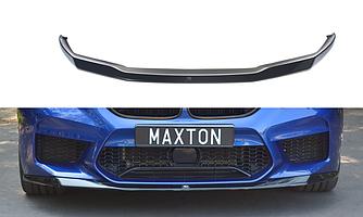 Сплиттер BMW M5 F90 губа юбка элерон переднего бампера (V1)