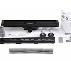 Трап для душа чёрный из нержавейки Epelli Neo Pro Classic 60 cм