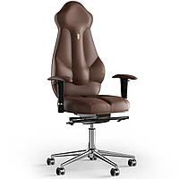 Кресло KULIK SYSTEM IMPERIAL Кожа с подголовником без строчки Виски 7-901-BS-MC-0106, КОД: 1685875