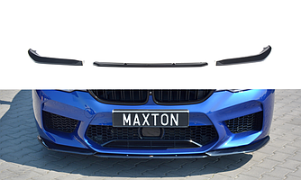 Сплиттер BMW M5 F90 губа юбка элерон переднего бампера (V2)