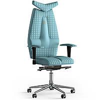 Кресло KULIK SYSTEM JET Экокожа с подголовником со строчкой Синий 3-901-WS-MC-0209, КОД: 1689717