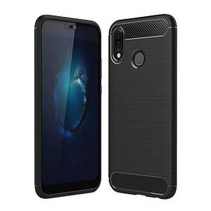 Чехол для Huawei P 20 Lite / Nova 3E Polished Carbon противоударный хуавей п20 лайт черный