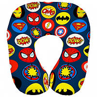Подушка в дорогу для путешествий Супергерои