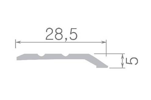 Алюминиевый профиль арт. 226 09 / бук  28.5х5х900 мм, фото 2