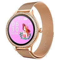 Умные Женские часы, смарт часы Smart M8 Girl Золотые