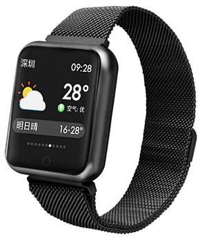 Розумний Фітнес-браслет, смарт годинник Q3 Pulse Black, фото 2